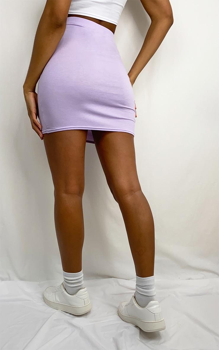 Lilac Basic Jersey Mini Skirt 3