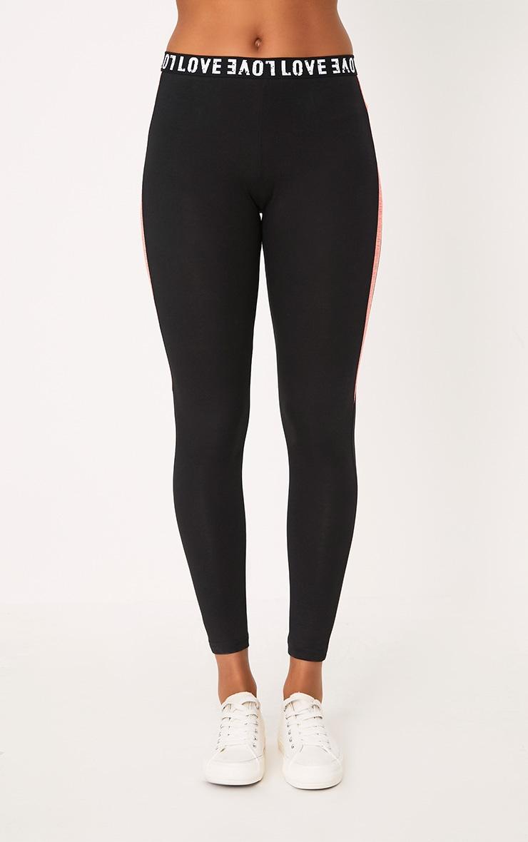 Grey/Black Melange Gym Leggings 2