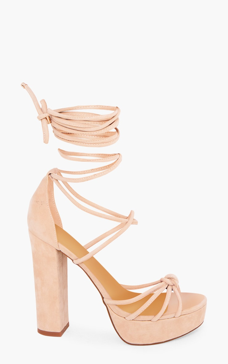 Nude Lace Up Platforms 3