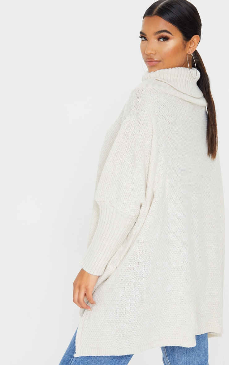 Oatmeal Oversized Slouchy Knitted Sweater 2