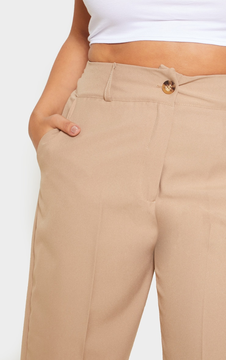 Plus Camel Woven Tapered Pants  5