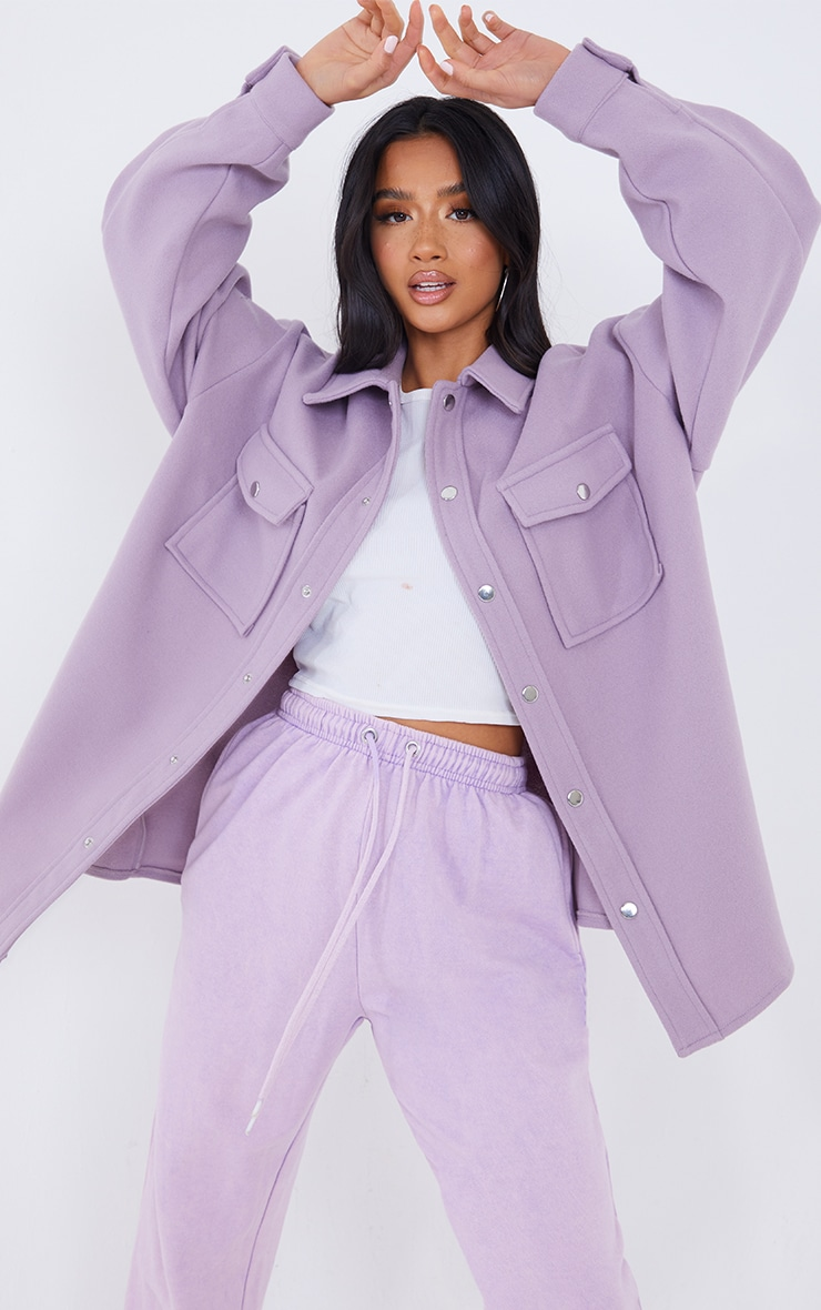 Petite Lilac Oversized Shacket  1