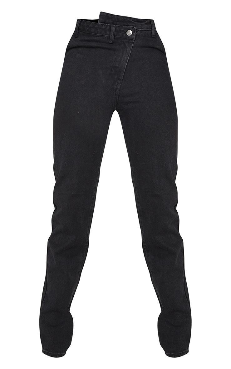 Tall - Jean noir profond à taille asymétrique 5