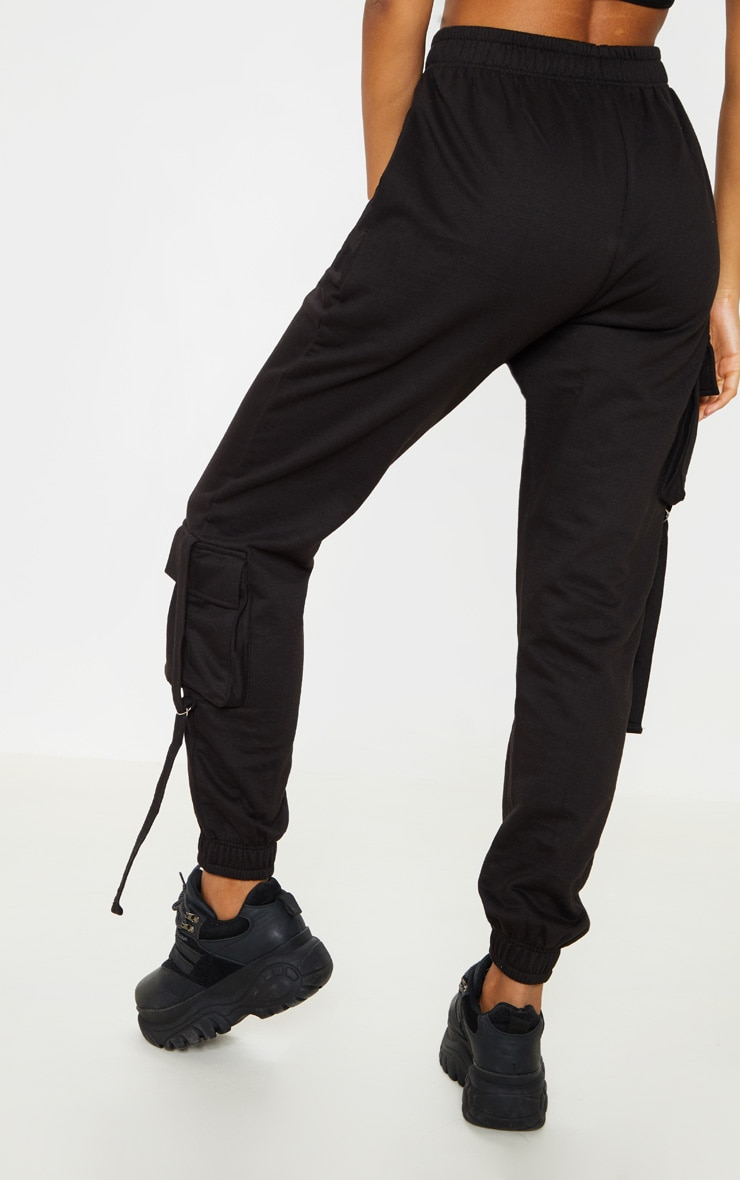 Black Cargo Detail Casual Jogger 4