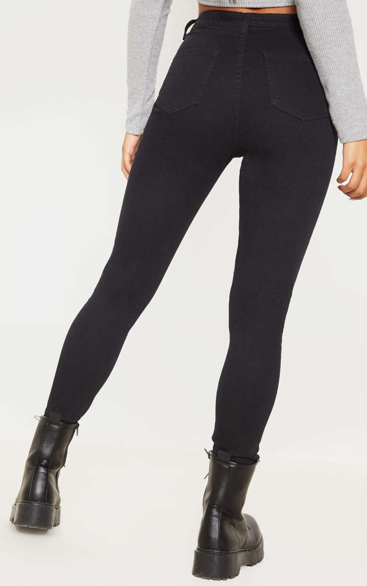 Black Basic High Waisted Disco Skinny 4