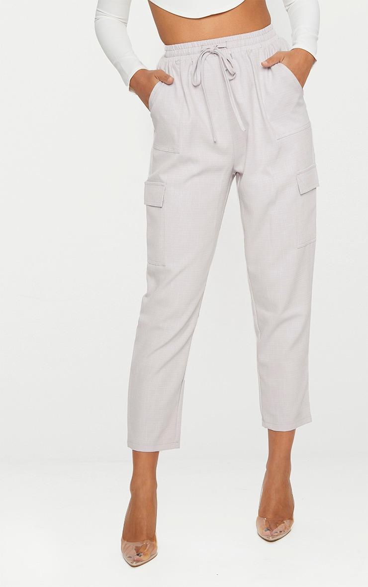 Grey Diya Cargo Pocket Casual Trouser 2