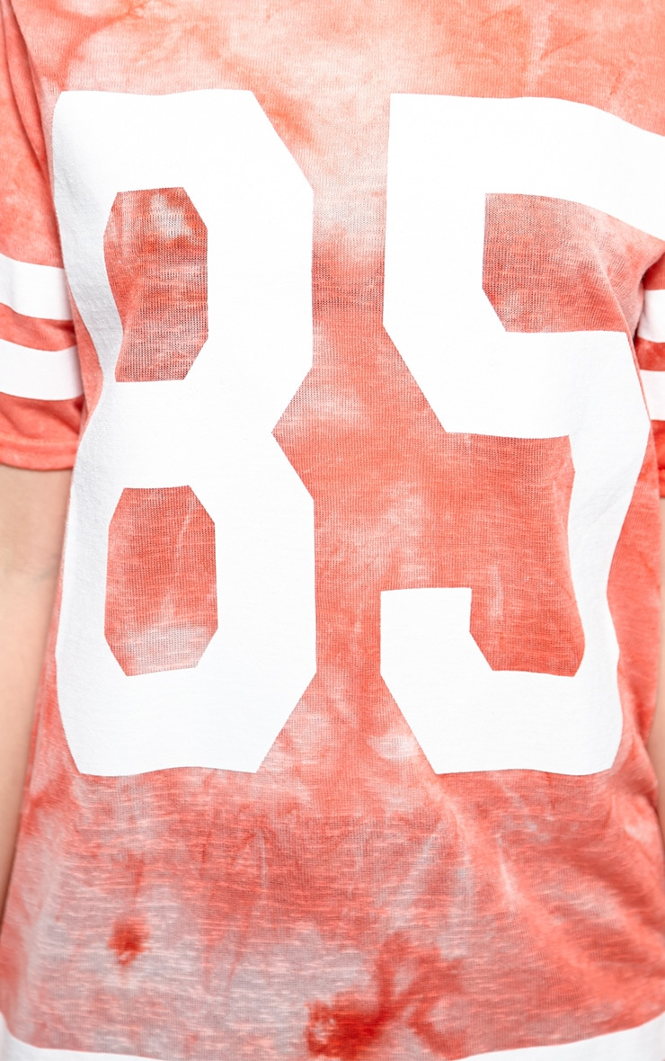 Luci Red Tie Dye '85' Sports Tee 4