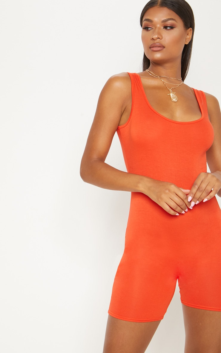 Orange Unitard  1