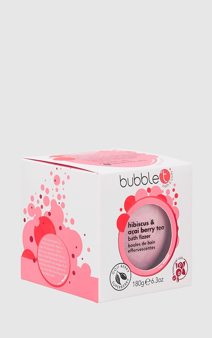 Bubble T Bath Fizzer In Hibiscus & Acai Berry 1
