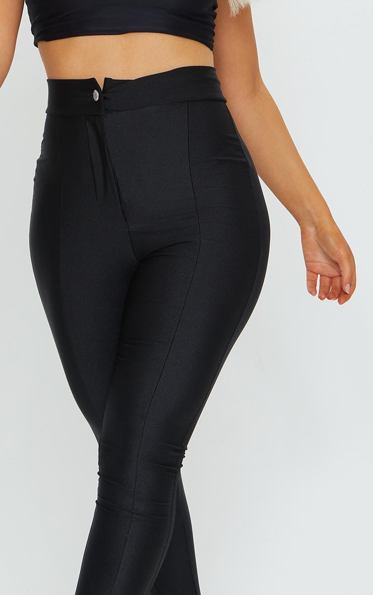 Black Disco Split Hem Skinny Trousers 4