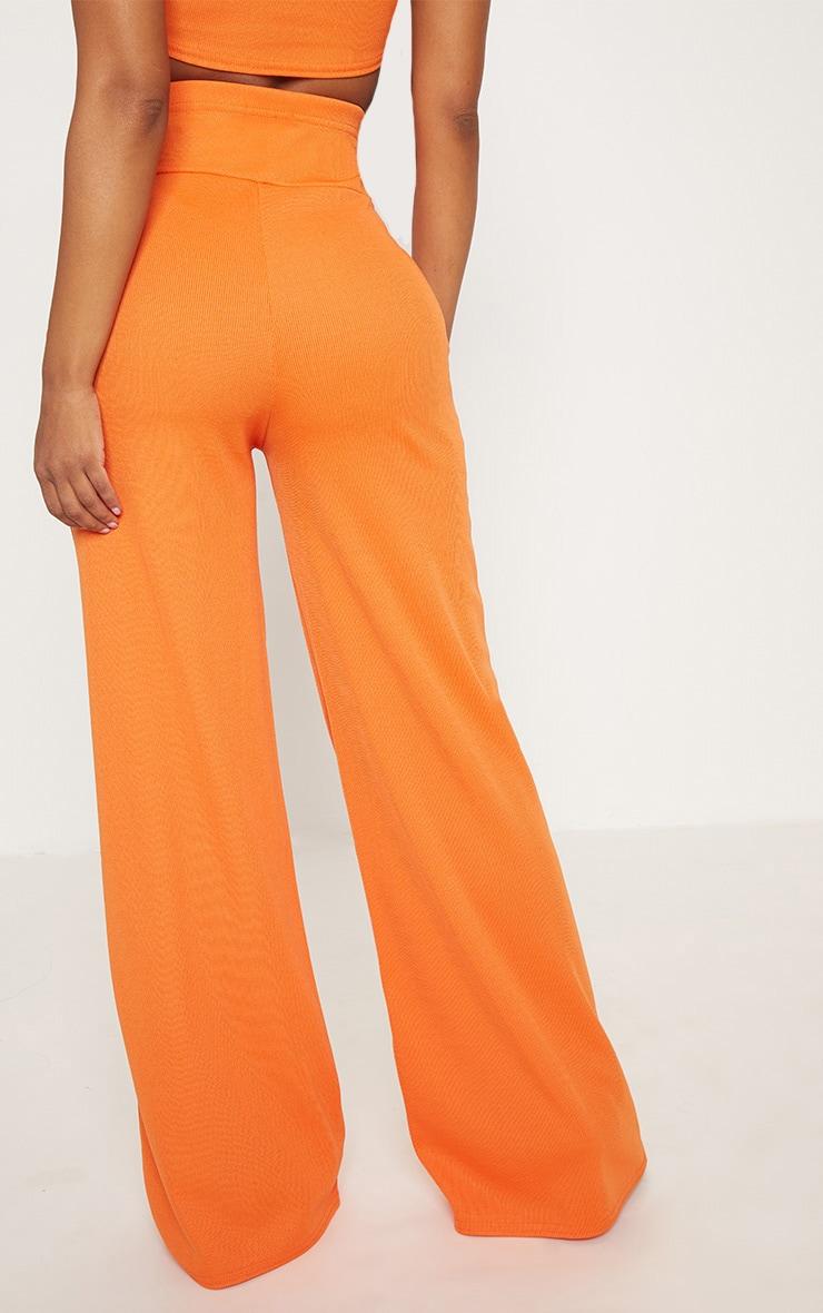 Shape Orange Bandage Extreme High Waist Wide Leg Trousers 4