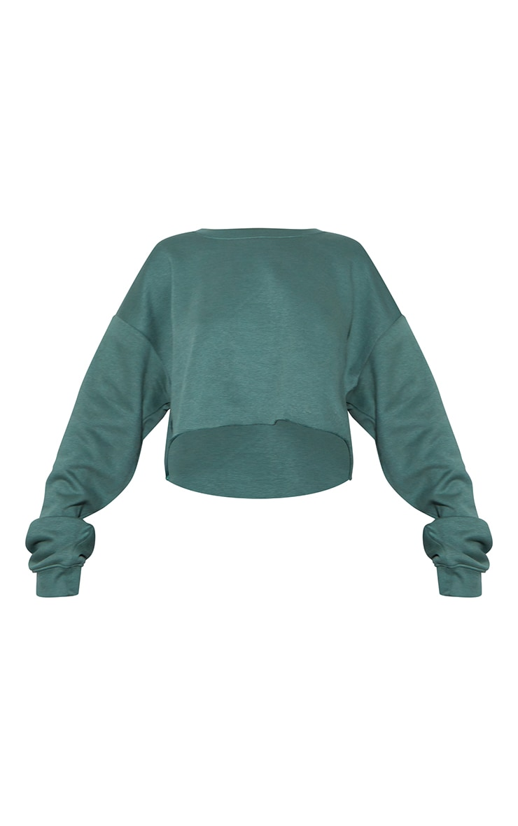 RENEW Green Oversized Crop Sweater 5