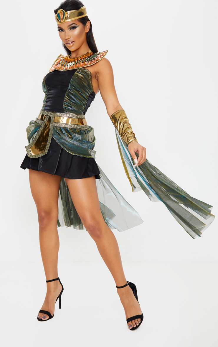 Black Sexy Egyptian Goddess Costume 4