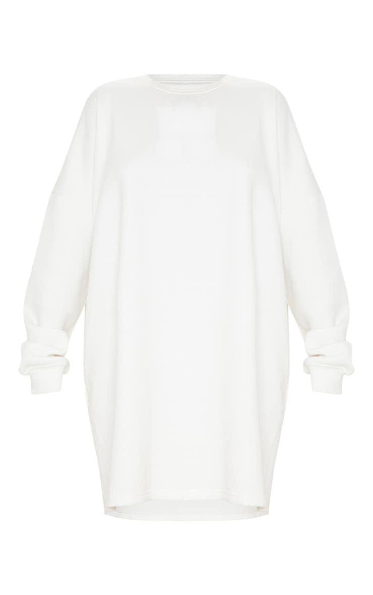 Ecru Oversized Sweater Dress 3