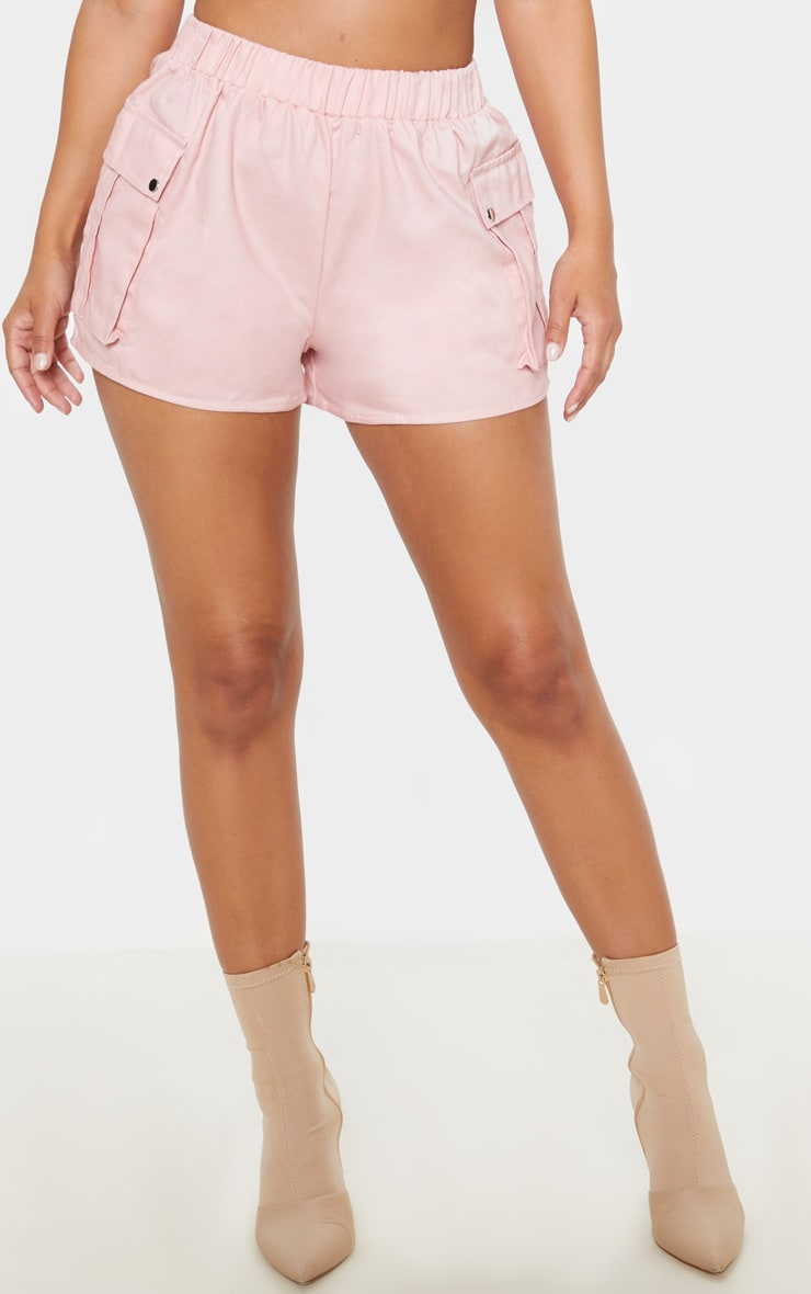 Petite Dusty Pink Cargo Pocket Shorts 2