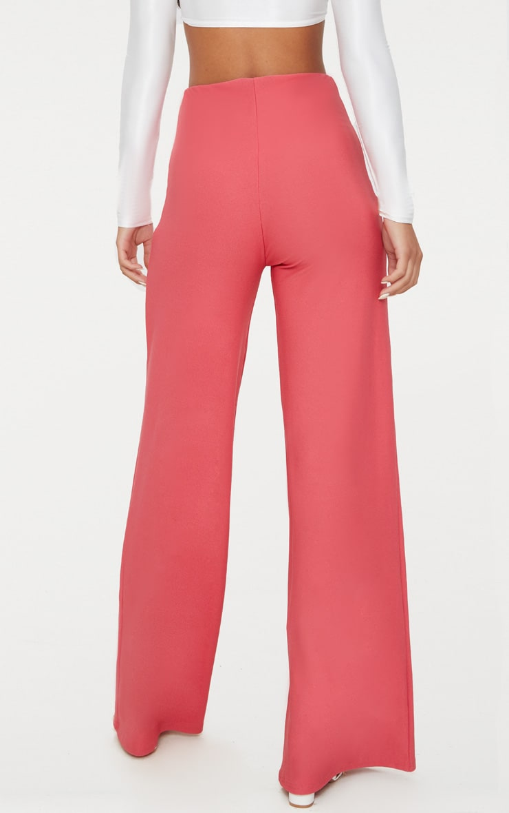 Berry High Waisted Wide Leg Trousers 2