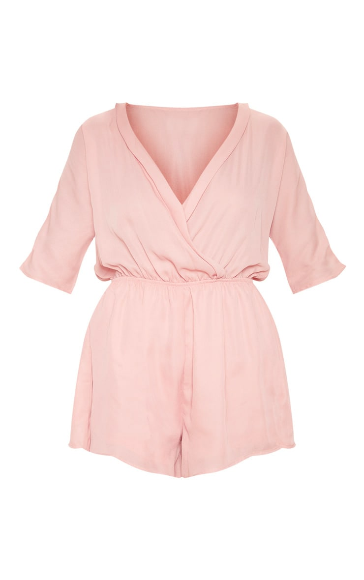Bobby Nude Chiffon Wrap Front Playsuit 3