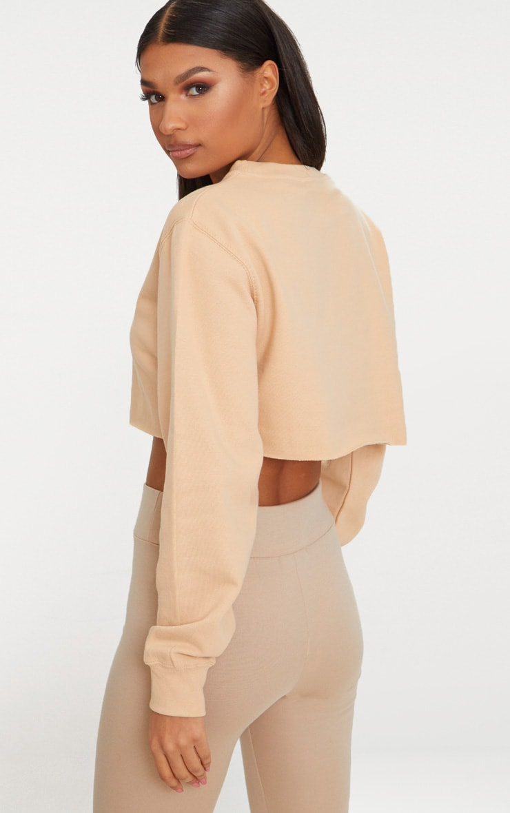 Peach Ultimate Cropped Sweater 2
