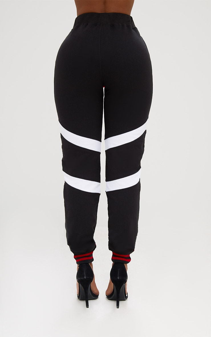 Shape Black Caution Contrast Joggers 4