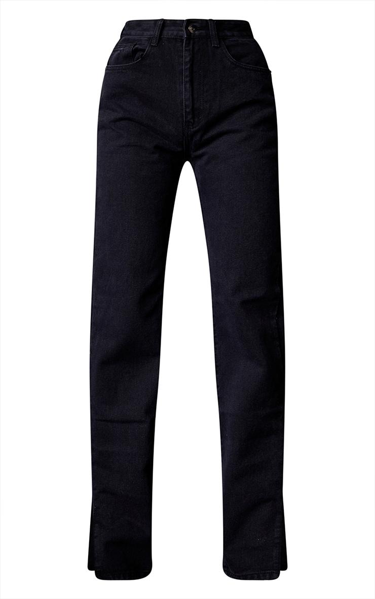 Tall Washed Black Split Hem Jeans 5
