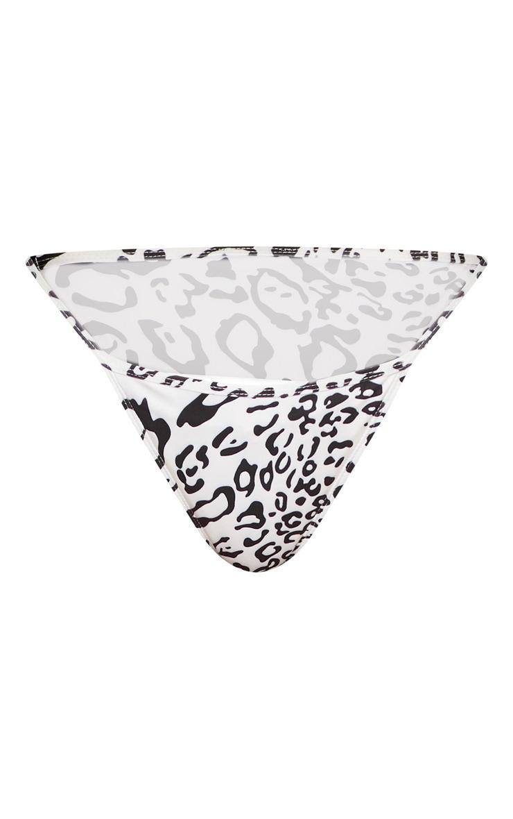 White Leopard Tanga Bikini Bottom 3