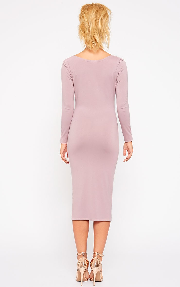 Lise Mauve Jersey Cowl Neck Midi Dress 2