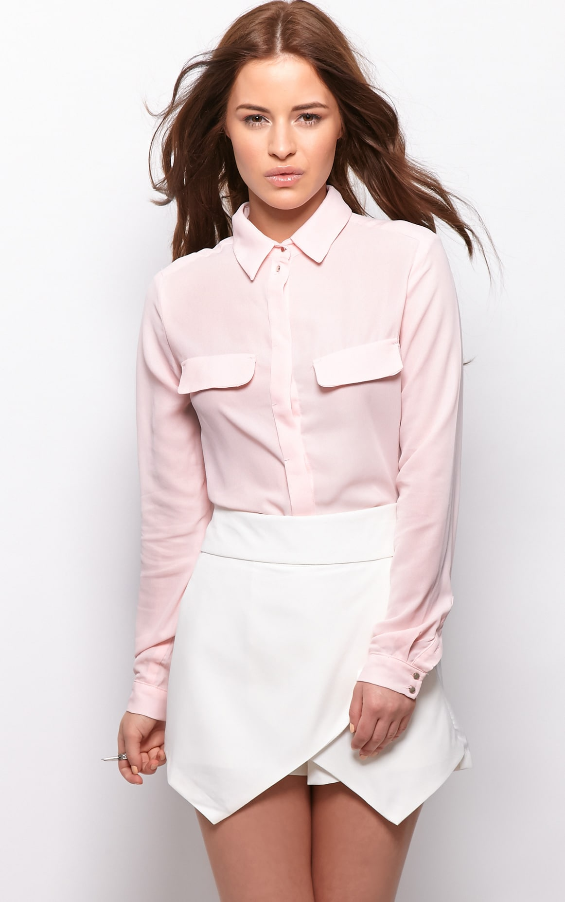 Gina White Tailored Skort  5
