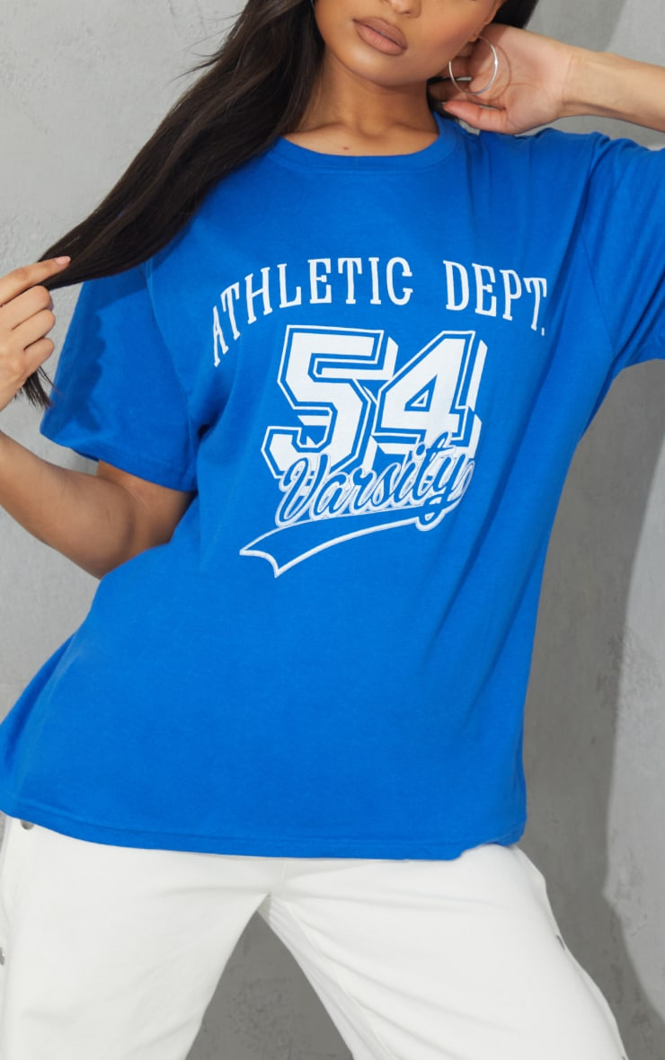 Royal Blue Athletic Department Printed T Shirt 1