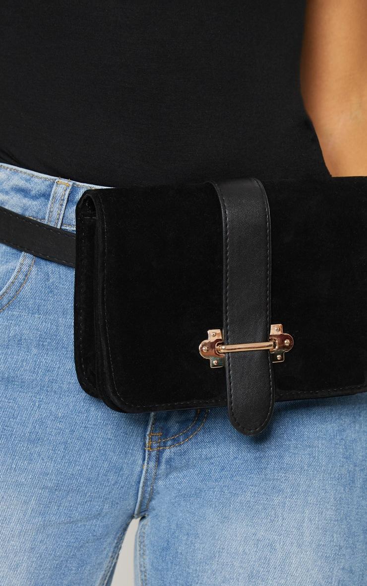 Black Suedette Western Belt Bag 3