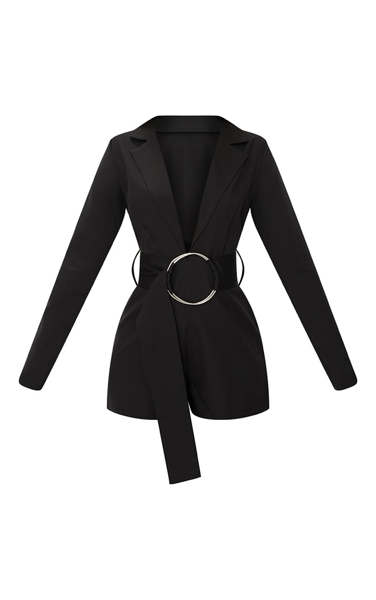 Black Tux Long Sleeve Playsuit 3