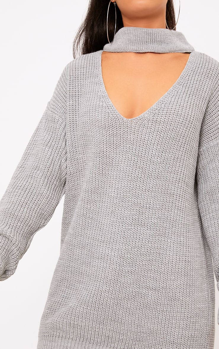 Katharine Grey Choker Detail Oversized Jumper  5
