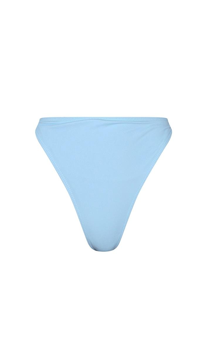 Baby Blue High Leg Cheeky Bikini Bottoms 6