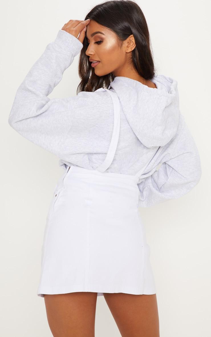 Martine White Denim Pinafore Dress 2