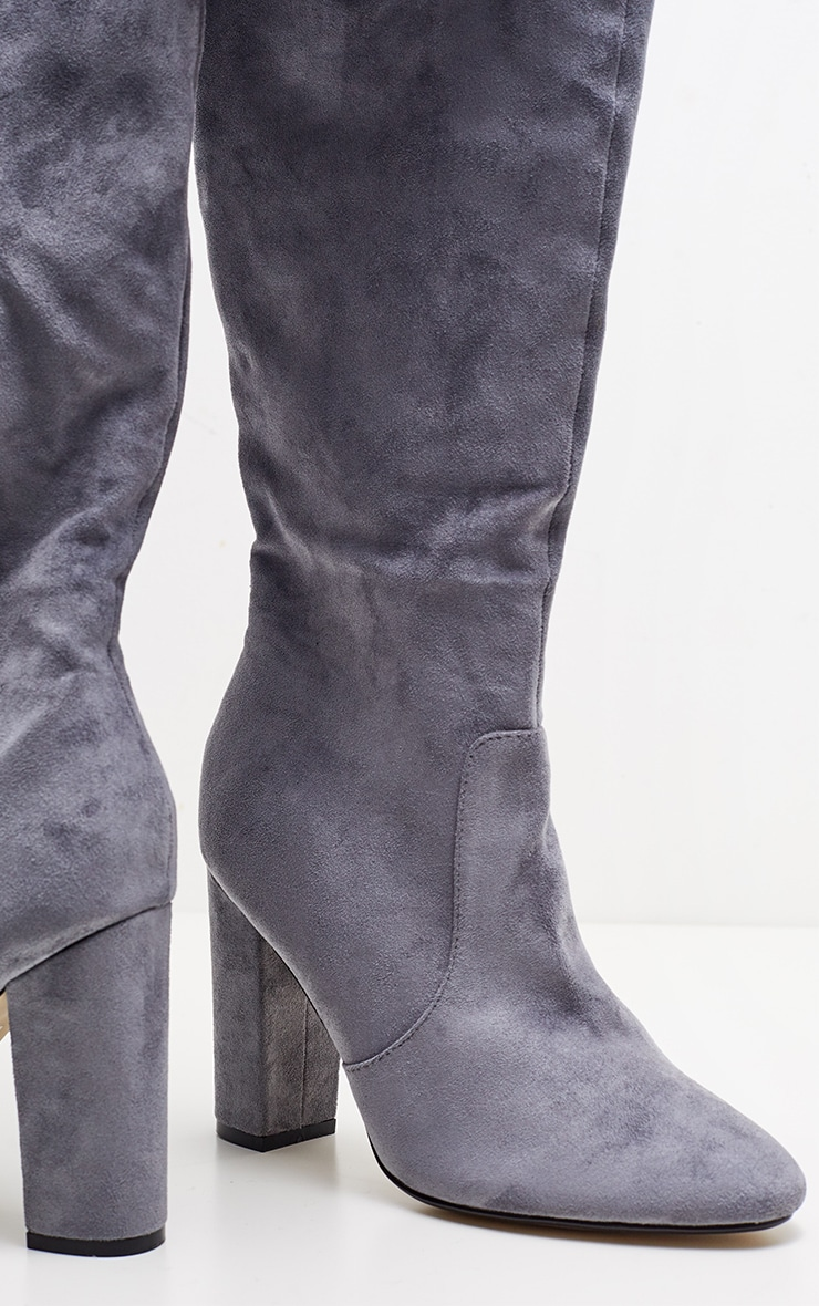 Grey Over The Knee Behati Boot 3