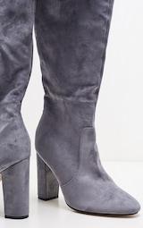 Grey Over The Knee Behati Boot 3