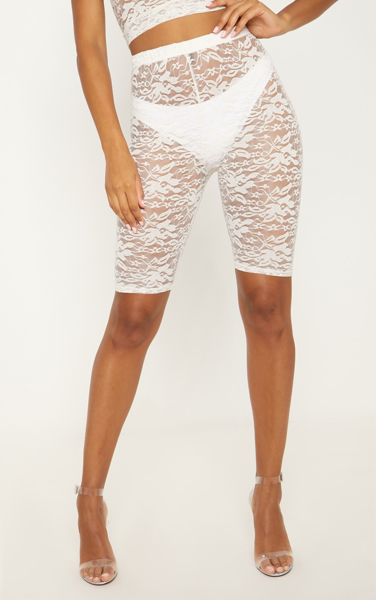 White Lace Cycling Shorts 2