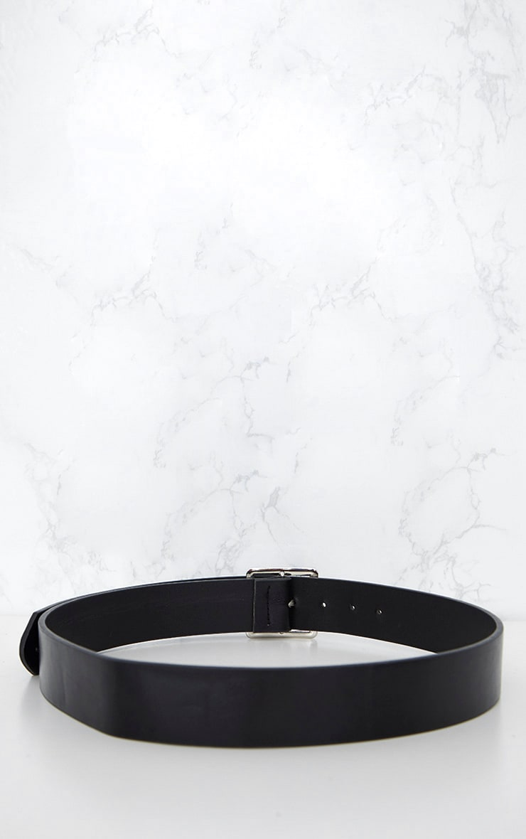 Black Basic Square Buckle Belt 6