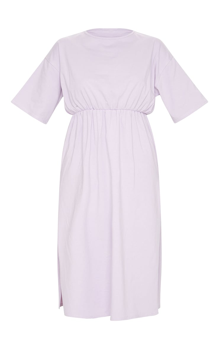 Lilac T Shirt Split Detail Midi Dress 5
