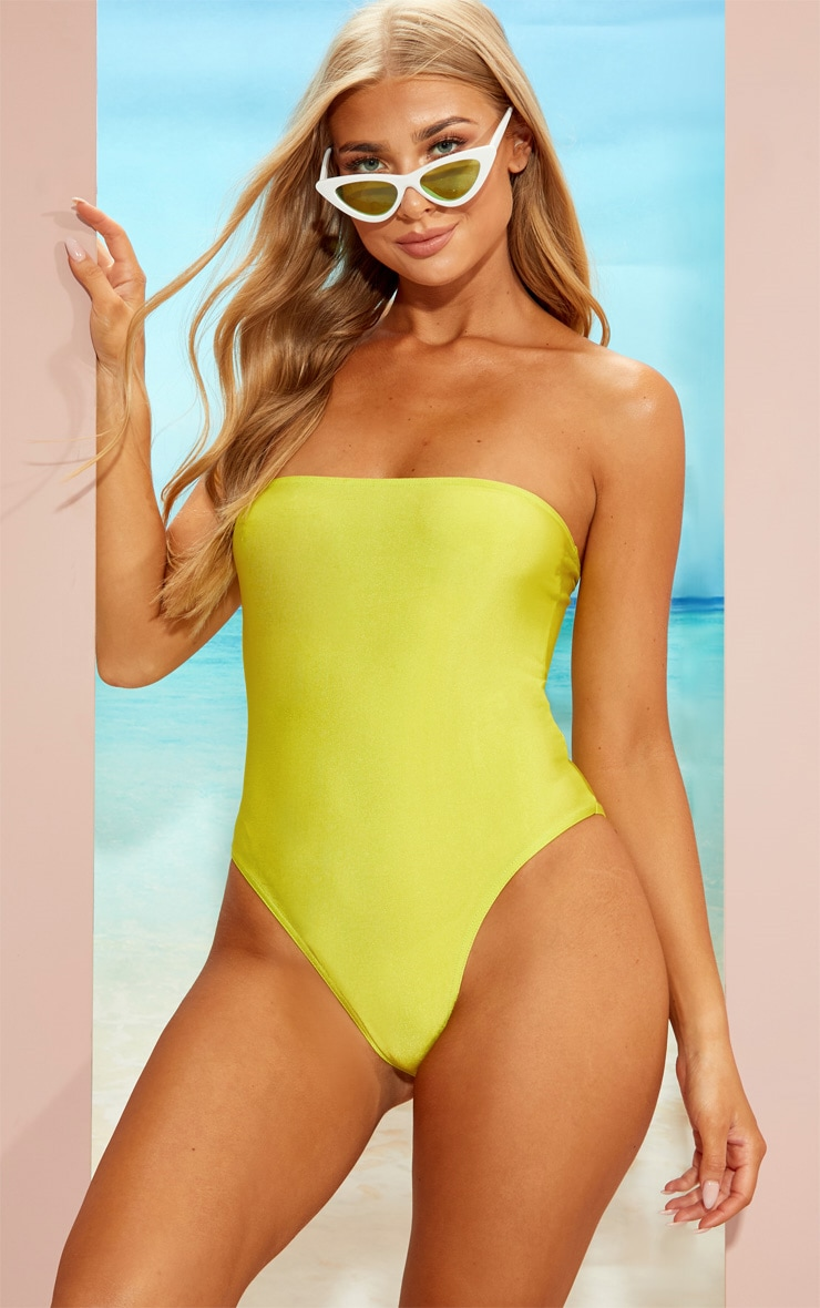 Lime Strapless Swimsuit