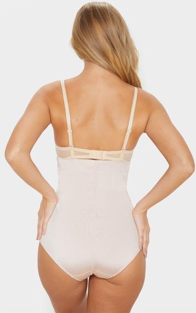 Nude High Waist Satin Panel Shapewear Contol Brief