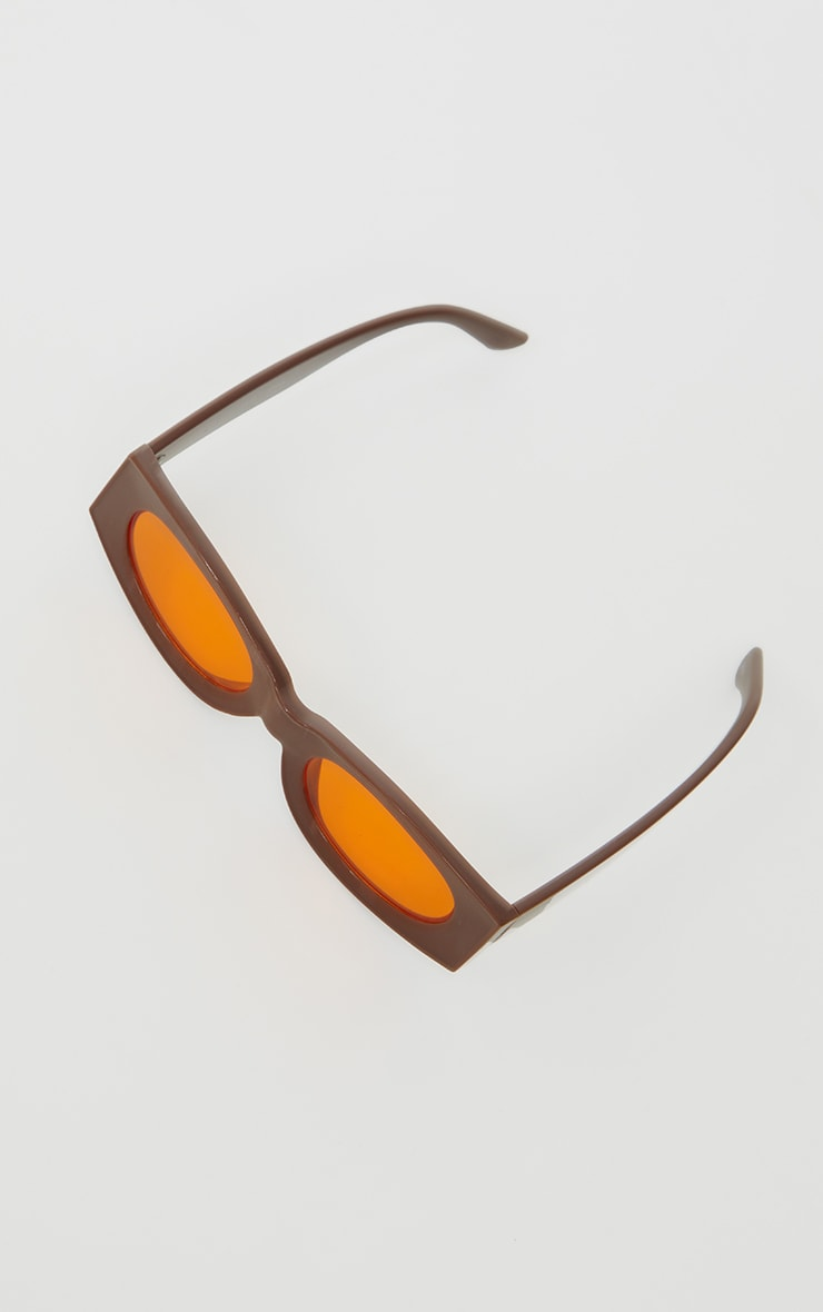 Chocolate Outlined Square Sunglasses 2