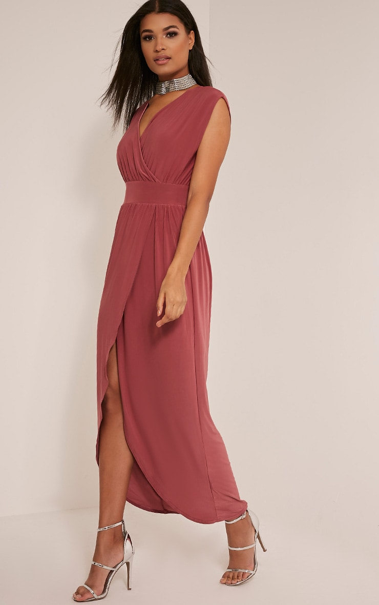 Marlisa Rose Slinky Plunge Maxi Dress 4