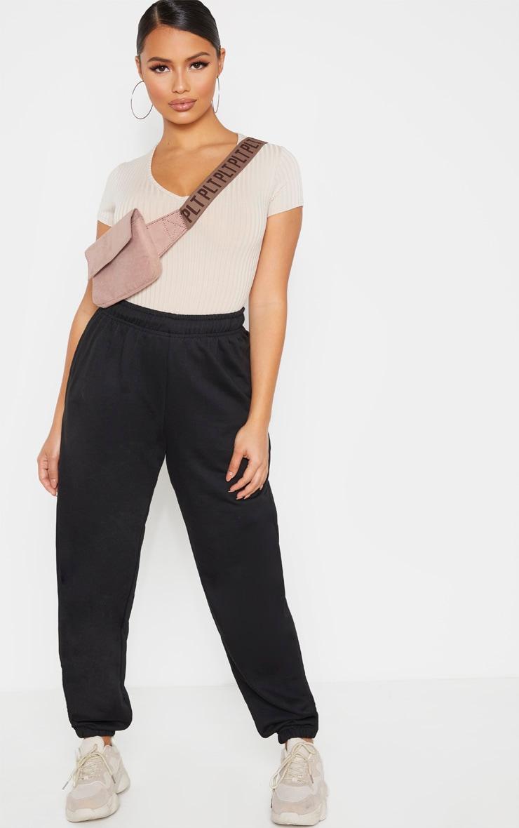 Petite Black Casual Trouser  1