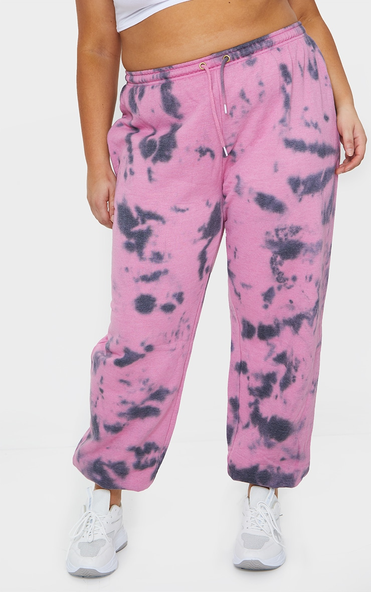 Plus Violet Acid Wash Casual Joggers 2