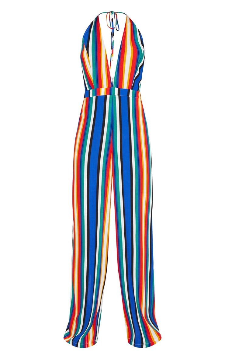Multi Stripe Halter Jumpsuit 3