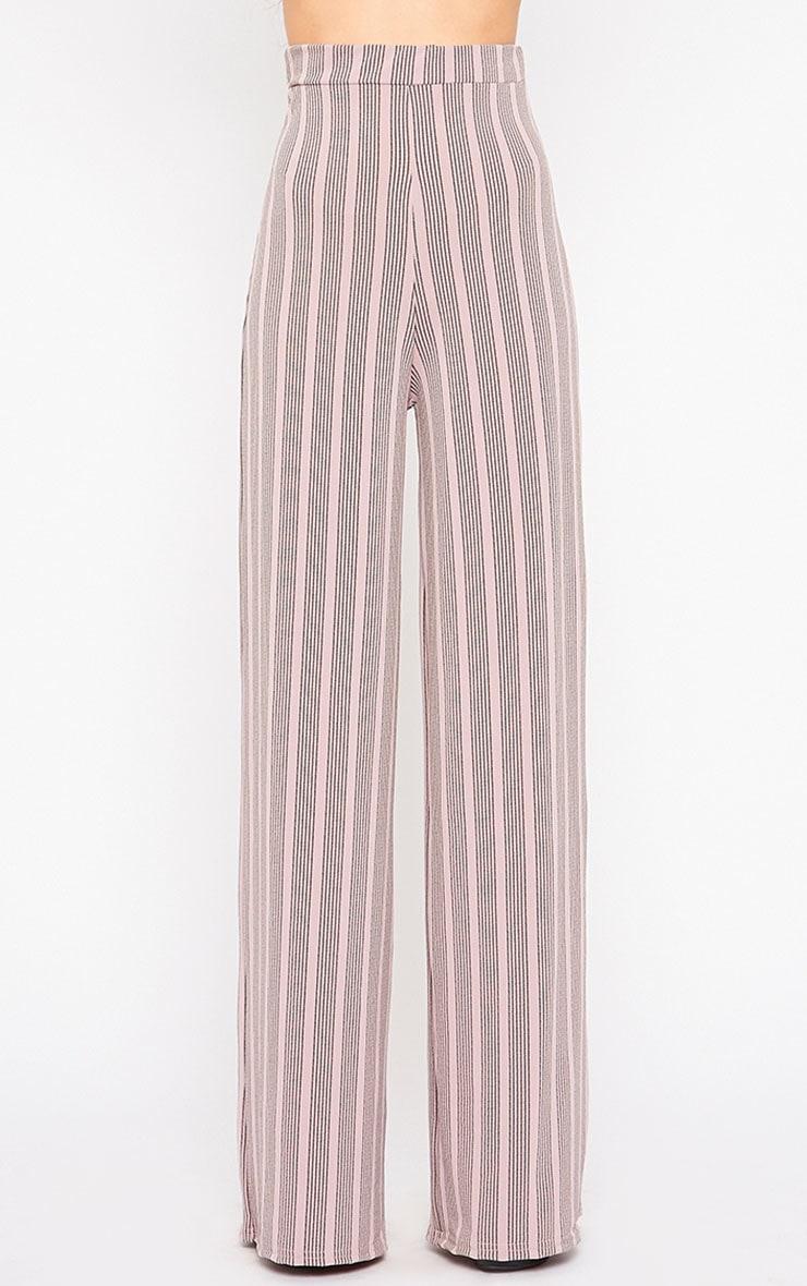 Zafia Mauve Stripe Palazzo Trousers 2