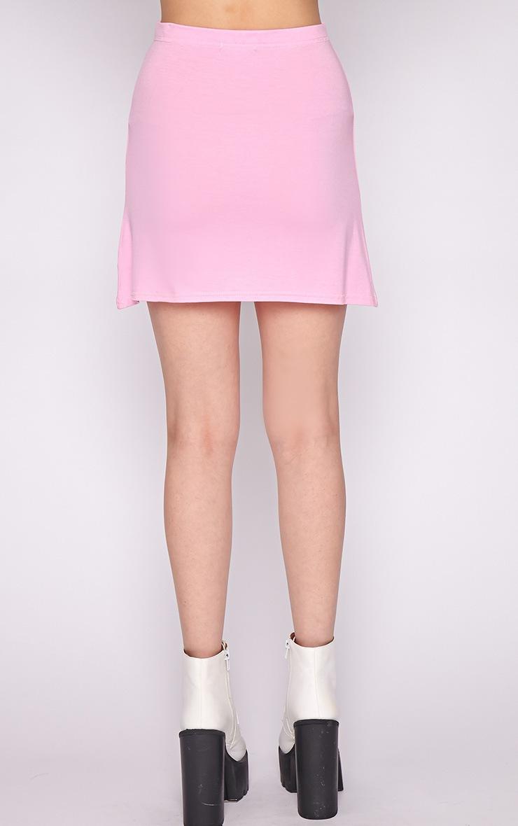 Erika Pink A Line Mini Skirt  2