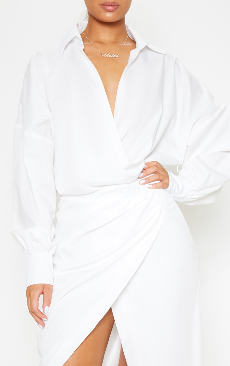 White Midi Shirt Dress 5