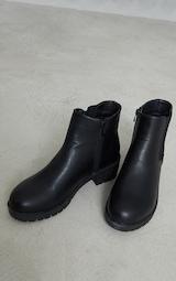 Black PU Round Toe Basic Chelsea Boots 4