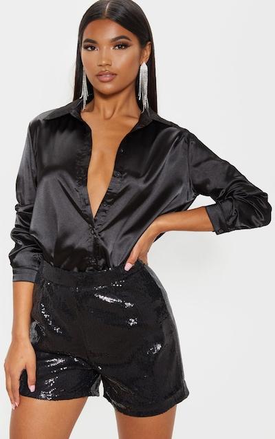 Black Sequin Formal Short